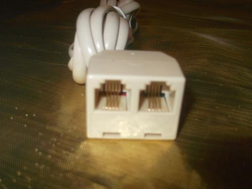 cable extensión teléfono rj11 cajetín 2 salida equiprogram