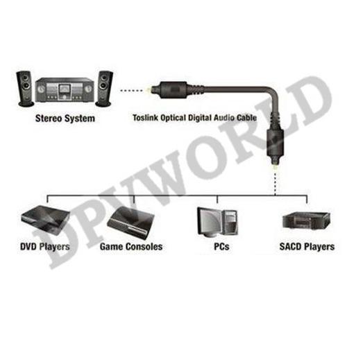 cable fibra optica audio digital toslink 3 metros tos link