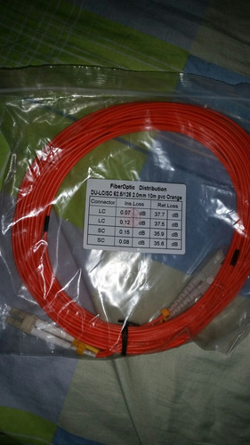 cable fibra óptica  du lc/sc 2mm 10 metros