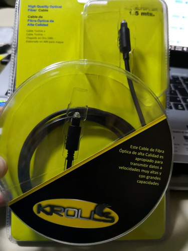 cable fibra optica krolls de 1.5mts oferta