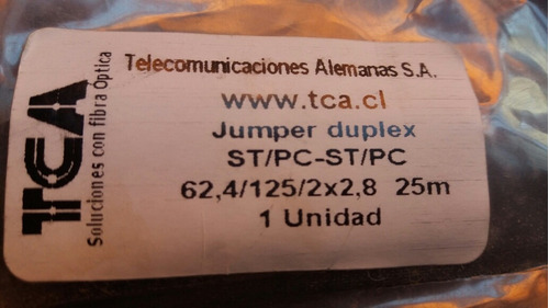 cable fibra optica tca jumper duplex st/pc-st/pc