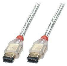 cable firewire 1394 transparente 6 pines a 6 pines ccs