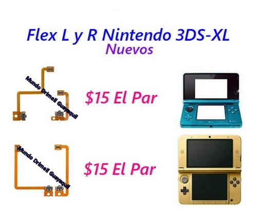 cable flex boton l y r nintendo 3ds y xl nuevos