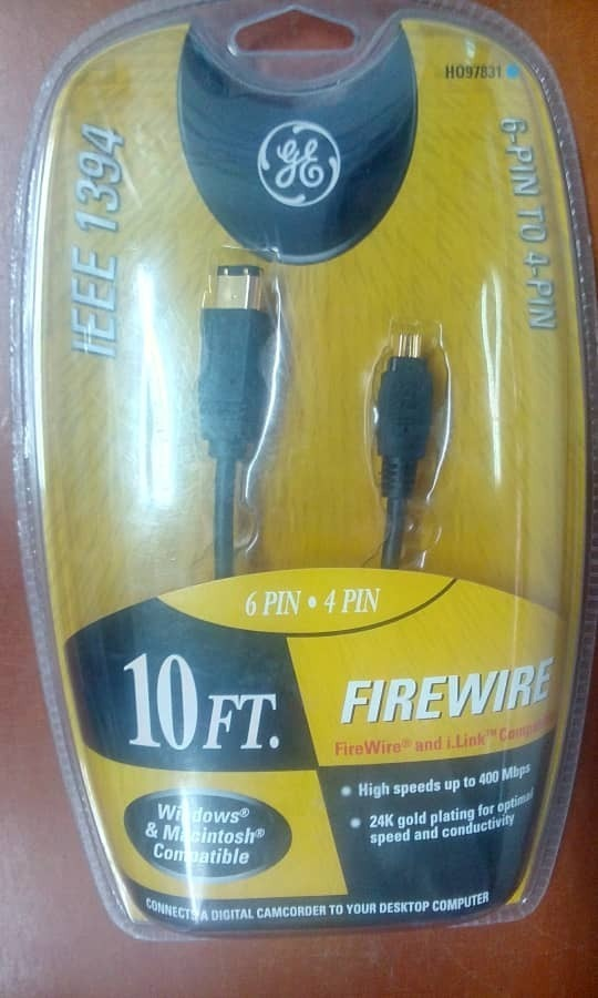 6 Pin-to-4 Pin Ge Ho97831 Ieee 1394 Cables