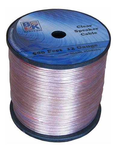 cable gemelo forro transparente p parlantes por 10 metros