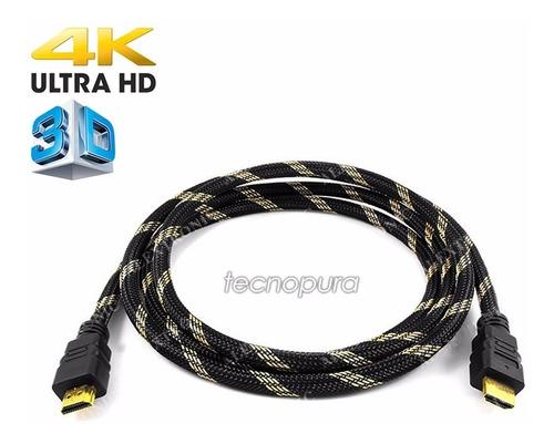 cable hdmi 10 metros - soporta 3d 4k/2k 2160p 4096×2160