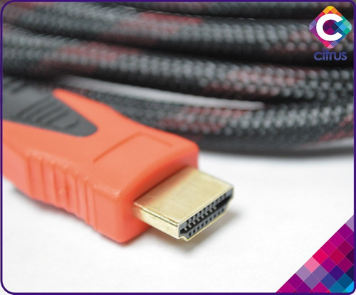cable hdmi 10mts gio full hd 1080p gio bluray ps3 dvd tv