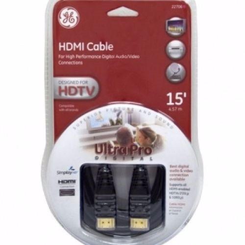 cable hdmi 1.3b general electric ultrapro 4,5m full hd oro