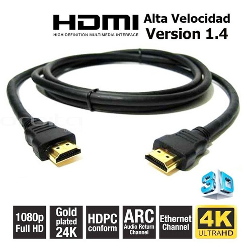 cable hdmi 1.5 metros full hd 1080 ps3 ps4 xbox iso9001