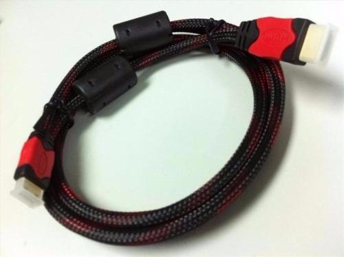 cable hdmi 1.5metros doble filtro brindado malla - nice home
