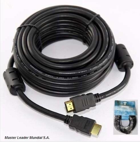 cable hdmi 15mt v1.4 oro 3d 4k filtros reforzado
