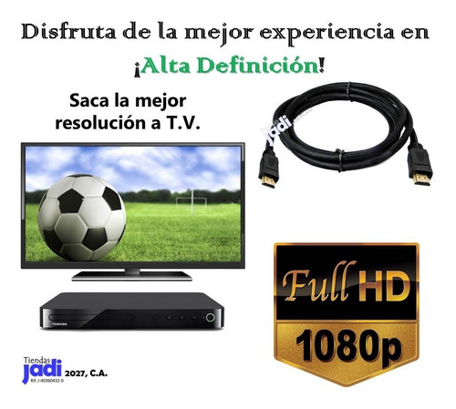 cable hdmi 1.8 mts 1080p blu ray ps3 ps4 xbox 360 une hd tj