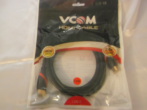 cable hdmi 1.8mts full hd gold plated cg525 vcom equiprogram