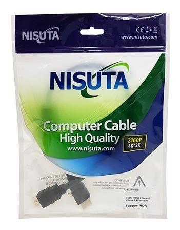 cable hdmi 2.0 calidad 4k 3d 0,5 mts medio metro  nisuta lz