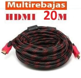 cable hdmi 20 metros /3d / v1.4 /4096x2160 hd /iso 9001/gold