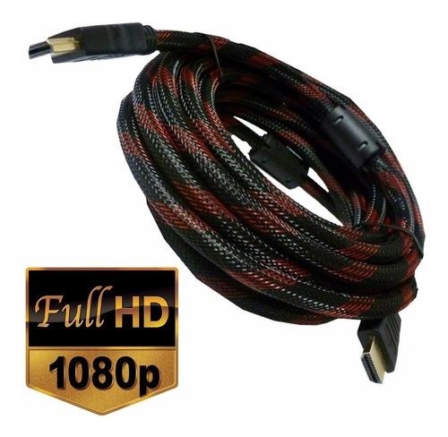 cable hdmi 20 metros full hd mallado 2 filtros led smart
