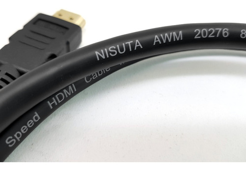 cable hdmi 2.0 ultra hd 4k 3 metros dorado filtro