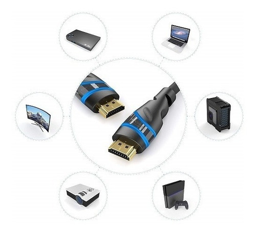 cable hdmi 2.1 kabeldirekt 2 metros (4k 120hz, 8k, 1080p)
