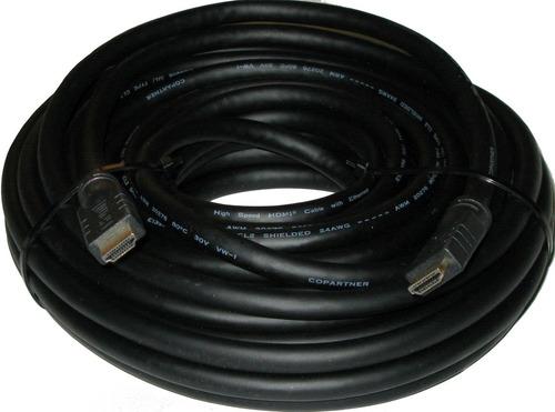 cable hdmi 25m chip activo  v1.4 hd 1080p excelente calidad