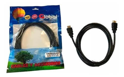 cable hdmi 2mts 3d full hd 1080p dvd blu-ray ps3 ps4