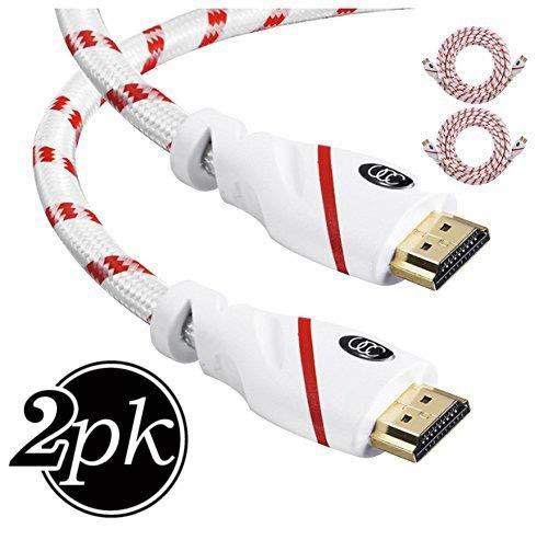 cable hdmi - 3 pies (0.9m) resolución 4k (2 paquetes) cable