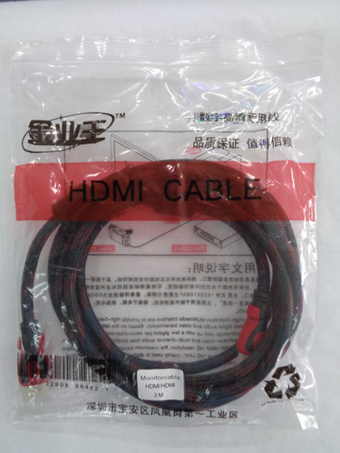 cable hdmi 3metos full hd 1080p bluray 3d ps3 dvd tv