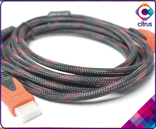 cable hdmi 3mts gio full hd 1080p bluray 3d ps3 dvd tv