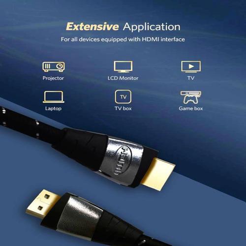 cable hdmi 4k enmallado 10 metros version 2,0