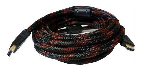 cable hdmi 5mts enmallado doble filtro