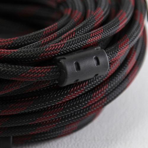 cable hdmi 5mts v1.4 oro 3d 4k filtros reforzado led 1° htec