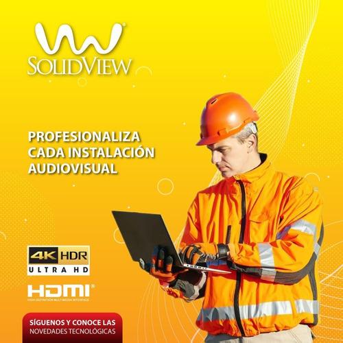 cable hdmi 60cm 4k @60hz version 2.0 solidview