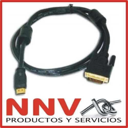 cable hdmi a dvi - oro 24k - doble filtro - 1080p - 2 metros
