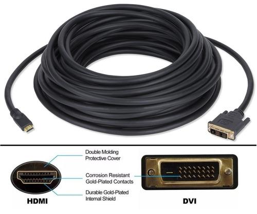 cable hdmi a dvi, resistente 8 metros, envío gratis