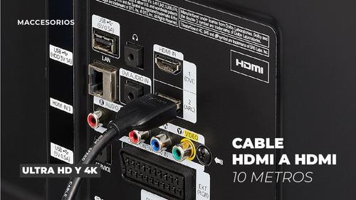 cable hdmi a hdmi 1080p 10 metros full hd