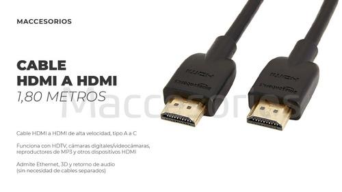 cable hdmi a hdmi 1080p 2,5 metros full hd