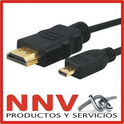 cable hdmi a micro hdmi 1.5m full hd ideal camaras digitales