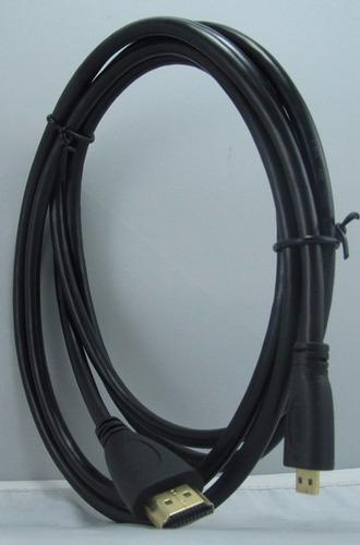 cable hdmi a micro hdmi 5 mts para camaras , filmadoras etc