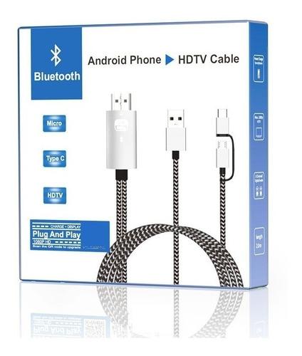 cable hdmi a microusb v8 y tipo-c con usb  titan belgrano