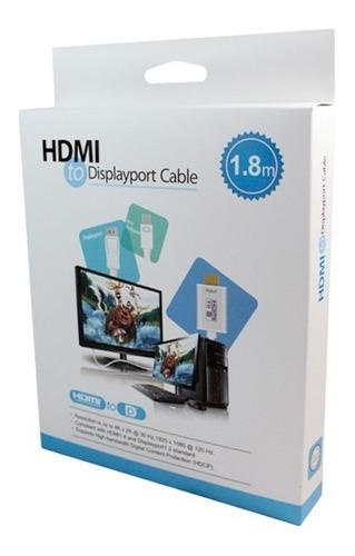 cable hdmi a mini displayport de 1,8 metros