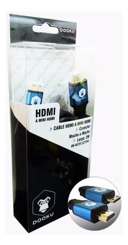 cable hdmi a mini hdmi 2 metros fullhd 1080p 24k gold tablet