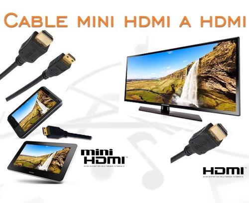 cable hdmi a mini hdmi full hd (macho / macho) 1.5 metros