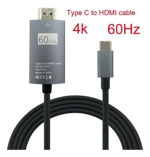 cable hdmi a tipo-c 4k 30hz 2mts celu pc mac titan belgrano