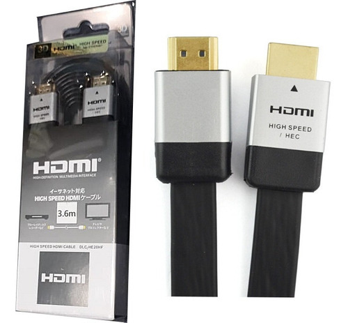 cable hdmi alta calidad plano audio video 3d hi-fi 3,60 ms