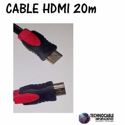 cable hdmi blindado de 20 metros full hd