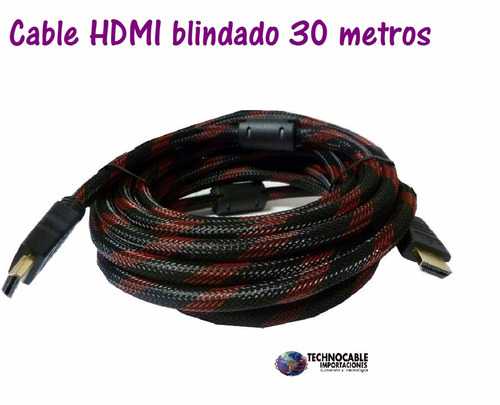 cable hdmi blindado de 30 metros full hd