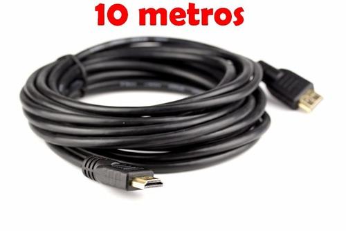 cable hdmi con terminales oro v2.0 de 10 mts en bolsa