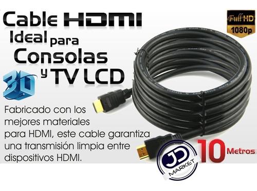 cable hdmi de 10.0 mts. flexible, ver. 1.4, soporta 3d y 4k