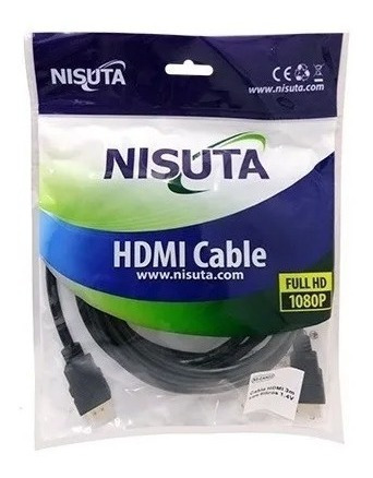 cable hdmi full hd 3m v1.4 con filtros 1080p nisuta ns-cahd3