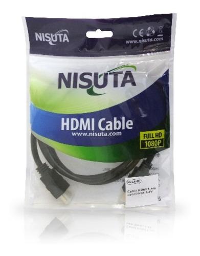 cable hdmi full hd calidad dorado 1.5 mts metros nisuta ps4