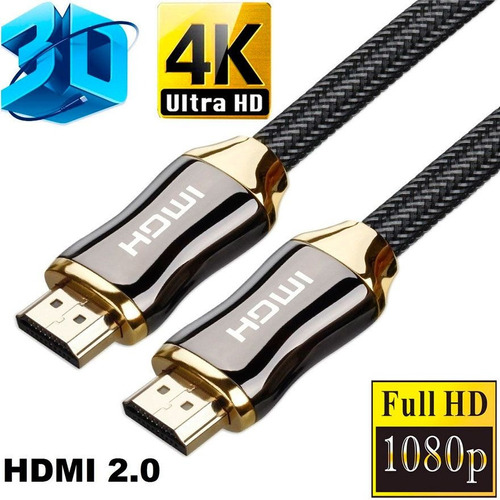 cable hdmi-hdmi 2.0 ultra hd 4k 60fps 18gbps 1.5mt
